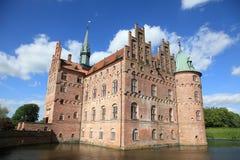 Egeskov castle in Denmark Royalty Free Stock Images