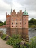 Egeskov Castle Denmark Europe with Cloudy Sky Royalty Free Stock Photo