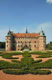 Egeskov castle in Denmark Stock Photos