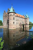 Egeskov castle and reflection Stock Photos