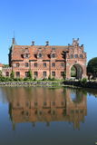 Egeskov castle and reflection Stock Images