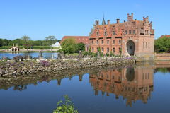 Egeskov castle and reflection, Denmark Royalty Free Stock Photography
