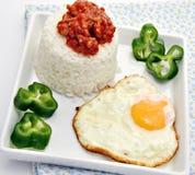 egg белизна зажаренного риса Стоковое Изображение