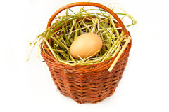 Egg. Brown eggs in the basket Royalty Free Stock Photography