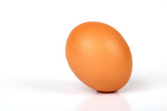 Egg. Brown Whole Egg Isolated On White Background Stock Photo