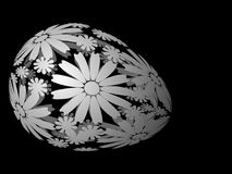 Egg. Easter egg with floral ornament, vector illustration Royalty Free Stock Images