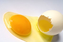 Egg. Fresh egg with the yolk and the protein Stock Photo