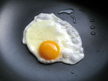 Egg. A close up for a egg in a frying pan Stock Image