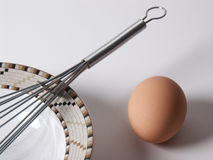Egg. And plate Stock Photography