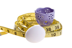 Egg And Tape Measure Royalty Free Stock Photography