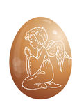 Egg and angel Stock Photography