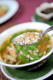 Egg ant soup Stock Photo
