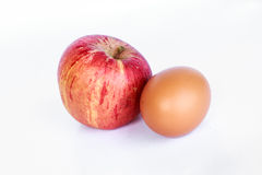 Egg and apple for diet Royalty Free Stock Photography