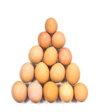 Egg arranged in triangle Stock Photos
