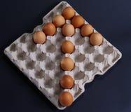 Egg Arrow Royalty Free Stock Photography
