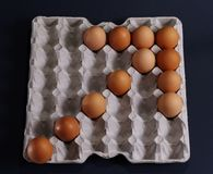 Egg Arrow Stock Images