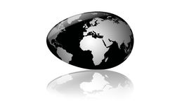 Egg as globe Stock Image