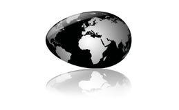 Egg as globe Stock Image