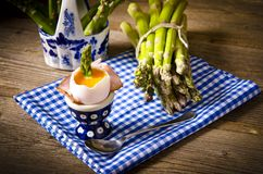 egg with asparagus Stock Photos
