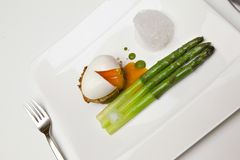 Egg and asparagus Stock Photography