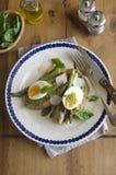Egg and asparagus on toast Stock Photography