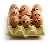 Egg audience Royalty Free Stock Images