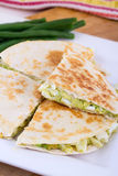 Egg and avocado quesadilla Royalty Free Stock Images