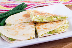 Egg and avocado quesadilla Royalty Free Stock Photography
