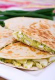 Egg and avocado tortilla quesadilla Royalty Free Stock Photography