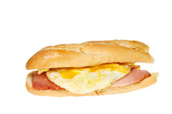 Egg bacon baguette Stock Image