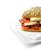 Egg and bacon roll 3 Royalty Free Stock Image