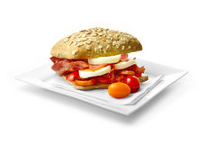 Egg and bacon roll 2 Royalty Free Stock Images