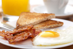 Egg and bacon with toast Royalty Free Stock Photography