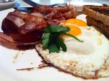 Egg bacon toast Stock Photo