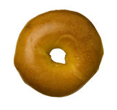 Egg Bagel Against White Royalty Free Stock Photo