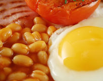 Egg And Baked Beans Stock Photos
