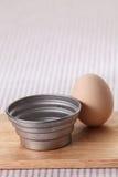 Egg and baking utensil Royalty Free Stock Photo