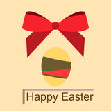Egg & bant. Holiday card with egg and bow on the feast of the Passover Stock Photography