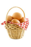 The egg basket Stock Photos