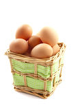 Egg basket Royalty Free Stock Photos