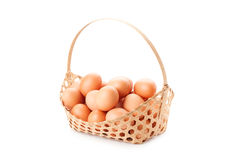 Egg in basket Royalty Free Stock Photos