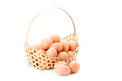 Egg in basket Royalty Free Stock Image