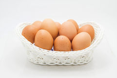 Egg in basket Royalty Free Stock Image