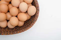 Egg in basket Royalty Free Stock Photography