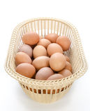 Egg in the basket Royalty Free Stock Photo