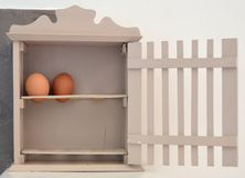 Egg basket Stock Photo