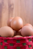 Egg in a basket Royalty Free Stock Photo