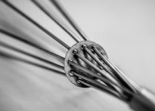 Egg beater Back view detailed close-up royalty free stock photos