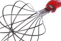 Egg Beater Isolated. Isolated macro image of an egg beater Stock Image