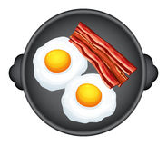 Egg and becon Royalty Free Stock Image